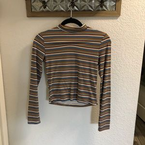 WORN ONCE SMALL FOREVER 21 STRIPED CROP TOP